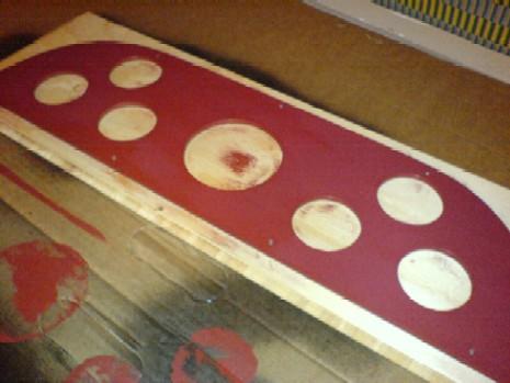 Rulle eller pensel på panel
