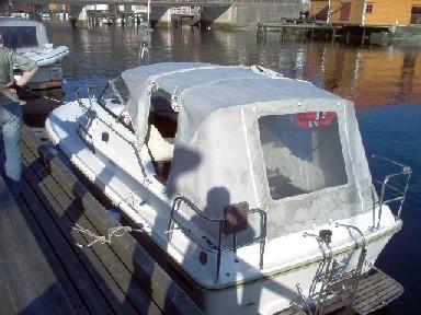 Farging av kalesje båt