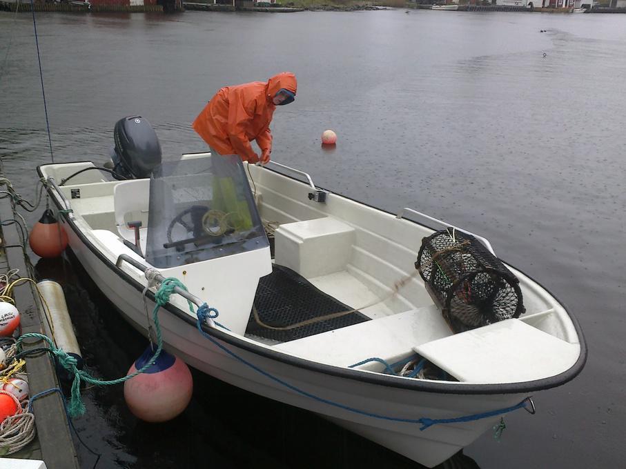 Gummimatte båt