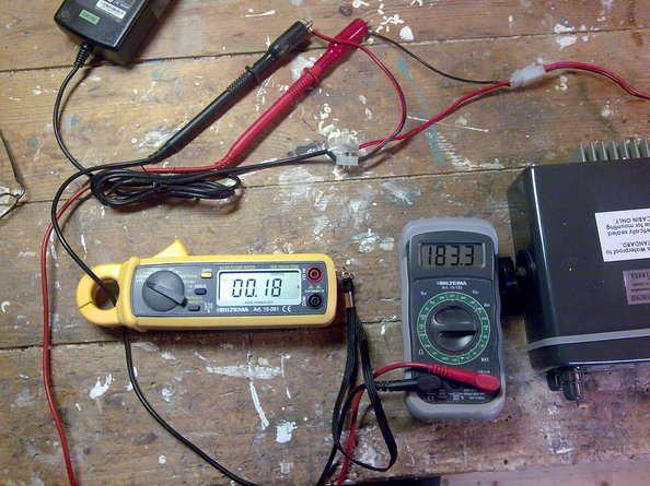 Tangamperemeter dc