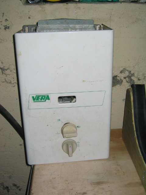 Gassdrevet varmtvannsbereder