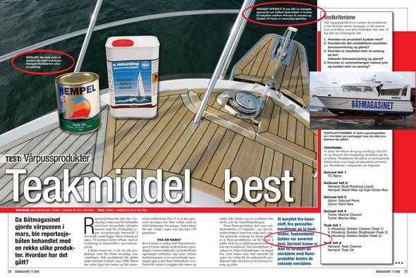 Teakolje båt test