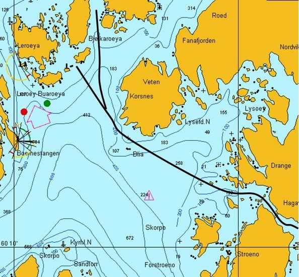 bjørnefjorden kart Hvor og hvordan krysse Korsfjorden (sør for Bergen)?   Båtforumet  bjørnefjorden kart