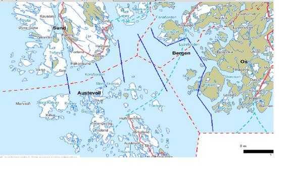 korsfjorden kart Hvor og hvordan krysse Korsfjorden (sør for Bergen)?   Båtforumet  korsfjorden kart